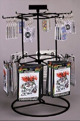 Counter Spinner Key Chain Small Item Display - 2 Tier 12 Peg Choice Of Color