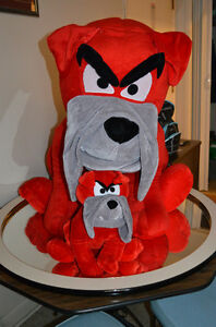 BIG RED Plush DOG with small Plush Pup