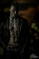 Tattooed Male Model Looking do to shoots, film etc