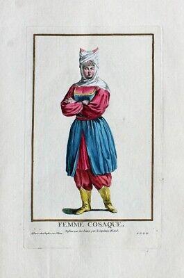 Kosaken Kosakin Cossack Kostüm Mode Tracht Ukraine Russland Krim Cosaque Russia