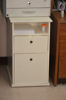 White 2-drawer stand