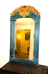 Mirror Wooden hand carved and hand painted