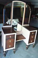 A beautiful antique vanity/desk, refinished (delivery)