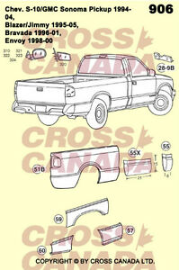 S10 & Sonoma Also Blazer & Jimmy REPLACEMENT BODY PANELS London Ontario image 2