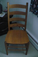 2 Solid Oak Custom Made Chairs
