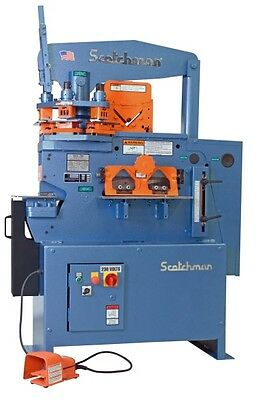 Scotchman 5014 Et 50 Ton 3 Station Turret Ironworker Free Shipping