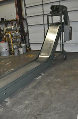 22 X 240 Livonia Magnetic Scrap Conveyor 126 Base Leg 66 Rise 30 Discharge
