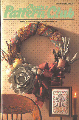 Annie's Pattern Club # 58 Aug 1989 Crochet Cross Stitch Sewing Craft Patterns