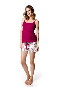 Medium HotMilk Full Support Red Nursing Tank & Pajama Shorts NEW