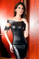 robe sexy faux-latex