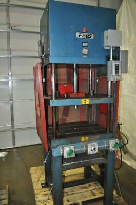 15 Ton Foster 4 Post Hydraulic Press 12 Stroke 26 Daylight 29 12 X 24 Bed