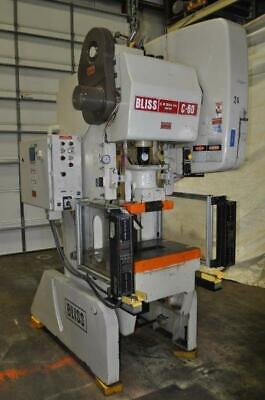 60 Ton Bliss Obi Press C-60 4 Stroke 3 Adjustment 14 14 Shut Height 100 Spm 3