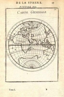 EASTERN HEMISPHERE 'Carte Generale'. Australia coast incomplete. MALLET 1683 map
