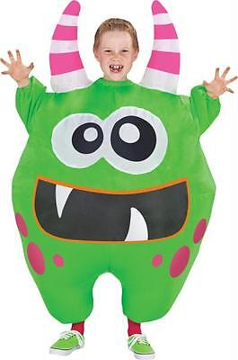CHILD INFLATABLE GREEN MONSTER SCAREBLOWN ILLUSION FUNNY COSTUME SS55194G ()