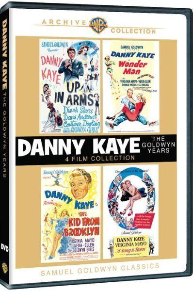 DANNY KAYE: THE GOLDWYN YEARS (4 movie set) -  Region Free DVD - Sealed