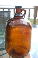 Amber Glass Jugs Bottles Moonshine , Syrup, Decoration All Glass