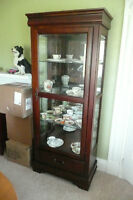 Mint condition display china cabinet.