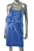 New Phoebe Couture Kay Unger Blue Strapless Cocktail Prom sz 4