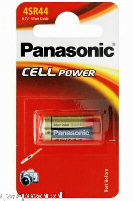 1 x Panasonic 4SR44 Zelle Batterie V28PX Silberoxid 160 mAh 6,2V  4 SR 44