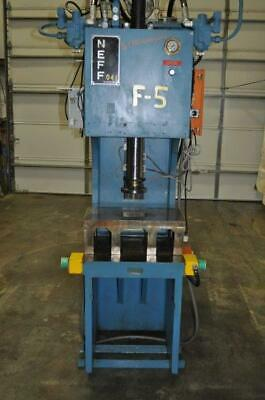 24 Ton Neff Hydraulic C Frame Type Press 10 Stroke 20 Daylight 10 Throat 2500