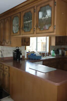 Used Kitchen Cabinets with Corian Counter Tops