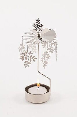 Teelicht Pvramide Blatt Pajoma mit Teelicht Dekoration Metall  silber Farben Neu
