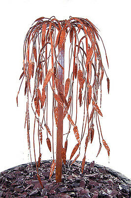 Weeping Willow Tree Water Feature Fountain Cascade Garden Copper To Be Oxidised