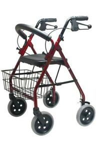 Rollator Walker with Fold Up and Removable Back