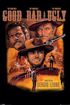 GOOD BAD AND THE UGLY Movie Poster - Western Full Size Print ~ Clint Eastwood