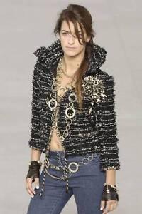 Chanel 06P Tweed Fringed Classic Jacket Coat Blazer NEW 40 Exquisite