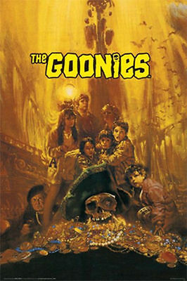 THE GOONIES MOVIE POSTER - 24x36 TREASURE CLASSIC - 7829