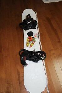 Snowboard, bindings and boots size 9