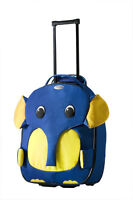 2  new (tags on) kids suitcases by Samsonite, elephant and croc