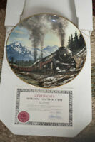Collectable Train Themed Plates byTed Xaras