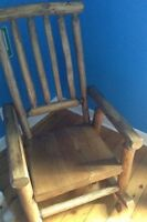 SOLID PINE (LOG LOOK) ROCKING CHAIR