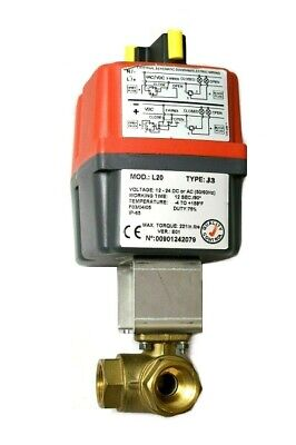 Valworx 560706 Electric Actuator 3-way Brass L-port Ball Valve L20 J3