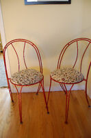 Pair of European-style cafe chairs
