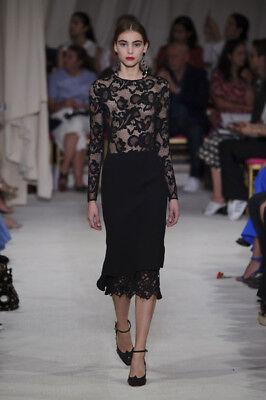 Authentic 2017 Oscar De La Renta Runway Lace Top Size S