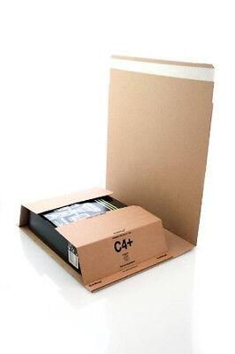 500 x Bukwrap DVD Book Wrap Postal Mailers C4 A4 245x326mm Amazon Style Wrapper