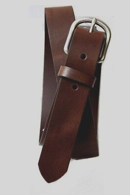 - New! Old Navy Brown Classic Leather Belt w/ Silver Buckle Kids Boys Medium M (8)