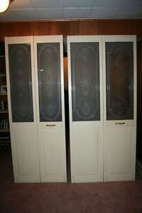 Decorative Bifold Wood Door with Glass Panel trimmed w/Brass West Island Greater Montréal image 1