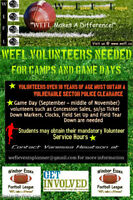 Volunteers needed for Football Camp - Students Welcome!