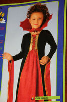 Gothic Vampire Costume - Size Large 8-10 years