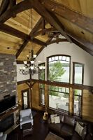 Timber frame and Log Projects