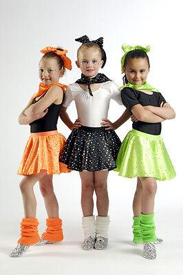 N Roll Skirt Set Dance Costume LIME Child Medium (Babes In Costumes)