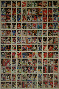 1991-92 OPC hockey ... UNCUT SHEETS ... complete set .. 4 sheets