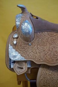 "16"" Western Show Saddle+Tack Light Colour~DEAL$799~New+Warranty London Ontario image 3"