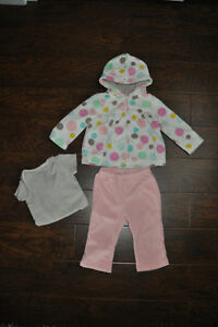 9 Month Carters Fleece Outfit