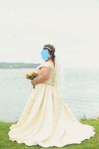Plus Size Wedding Gown with Matching Veil