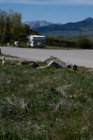Vacant, serviced lot in Lundbreck, Alberta